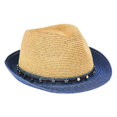 FEDORA - Women's Ultrabraid Fedora With Colorblock Brim And Star Trim