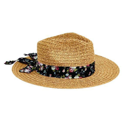 FEDORA - Women's Ultrabraid Fedora With Novelty Tie Back Bow Trim