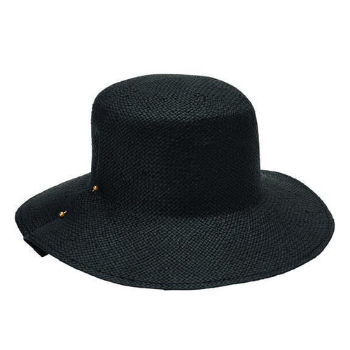 FEDORA - Women's Woven Paper Bucket With Pinned Fold Detail