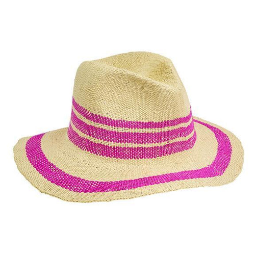 Women's Fedora w/ Pop Color Stripes (PBF7311)