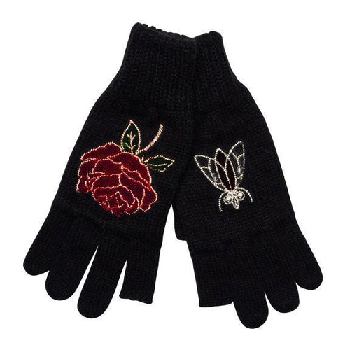 texting finger gloves with patches (KNG3512)