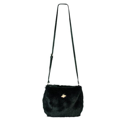 Crossbody fur handbag with bug detail (BSB3546)