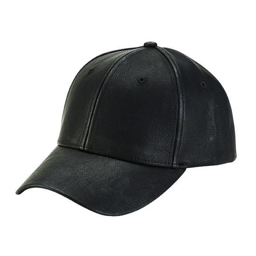 Men's Faux Leather Baseball Cap