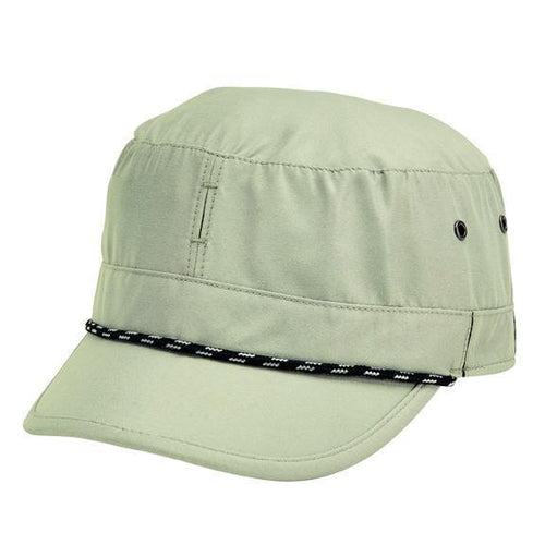 HAT - Men's Lightweight Packable Military Cap With Interior Mesh And Moisture Wicking Sweatband