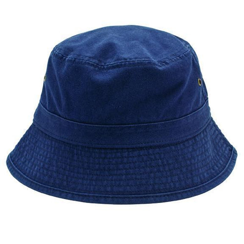 HAT - Mens Washed Cotton Bucket With Side Grommets