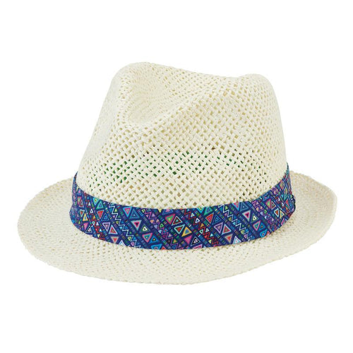 Hats - 2-4 Todder Open Weave Fedora-Ivory-2-4 Years
