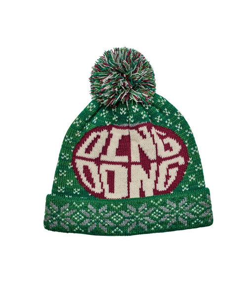 Hats - Ding Dong Knit Cap With Pom