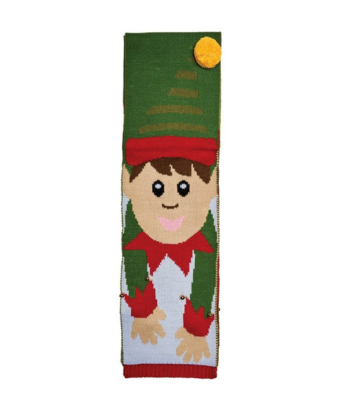 Elf Scarf W/ Jingle Bells (BSS1690OSELF)