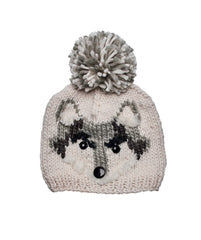 Hats - Fox Knit Cap With Pom