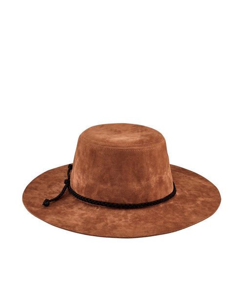 Hats - Kids Faux Suede Floppy With Trim