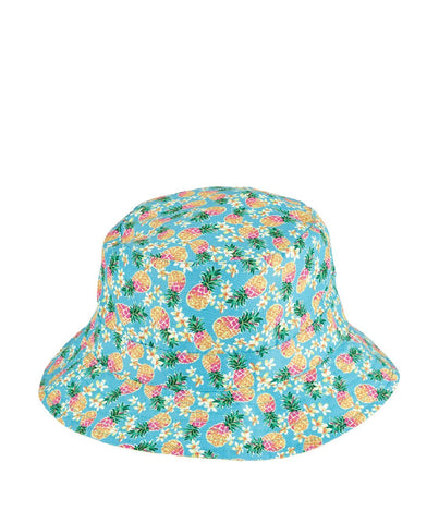 Kids Striped Ribbon Bucket Hat With Chin Strap (RBK3082)