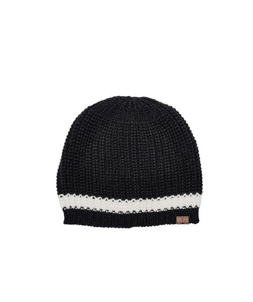 Hats - Knit Beanie With Contrast Stripe And Anchor