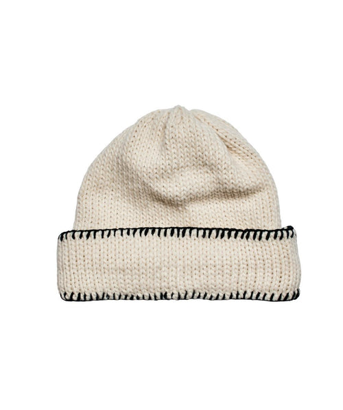 Hats - Knit Beanie With Cuff