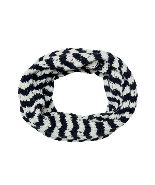 Hats - Knit Open Weave Stripe Infinity Scarf