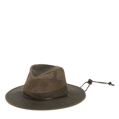 Men's Outdoor Hat With Chin Cord, Vented Crown And Stretch Band - FS