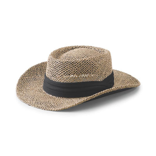 Hats - Men's Segrass Gambler-Natural W/ Black