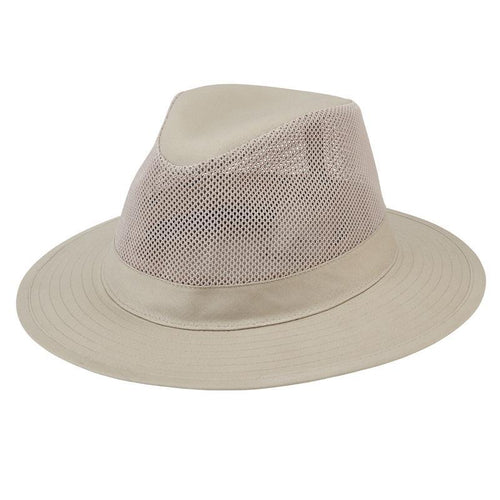 Hats - Mens Outdoor Fedora-Natural-One Size