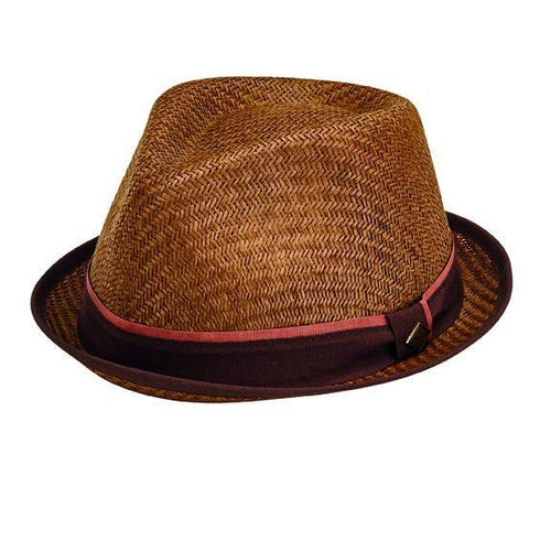 Hats - Mens Pinched Crown Porkpie Fedora
