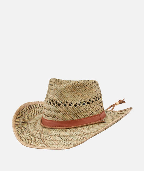 Hats - Mens Rush Straw Chin Cowboy