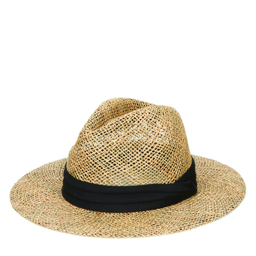 Mens Rush Straw Wide Brim Fedora (SGM502)