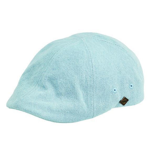 Hats - Mens Washed Denim 6-panel Driver