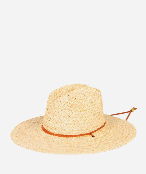 Hats - Raffia Sun Hat With A Chin Cord
