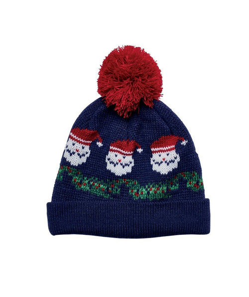 Hats - Santa Knit Cap With Pom