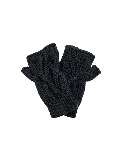 Hats - Solid Cable Knit Gloves