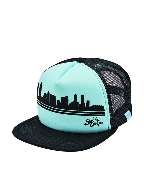 Hats - Sublimated City Skyline Trucker