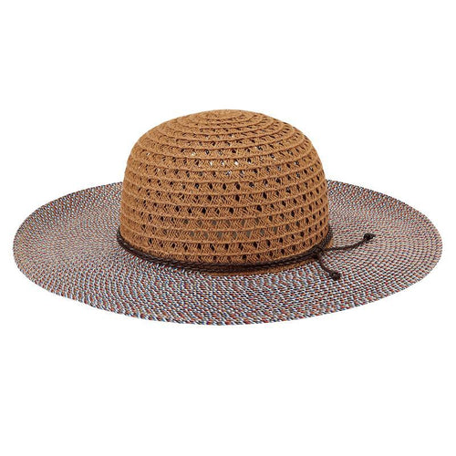 Hats - Toddler Open Weave Crown Sunbrim-Natural-5-7 Years