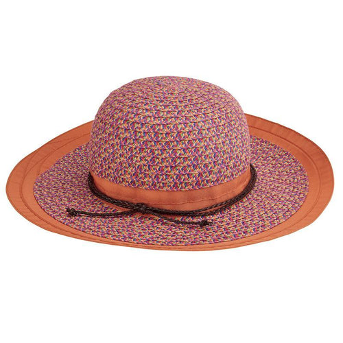 Hats - Toddler Paperbraid Sunbrim-Orange-5-7 Years