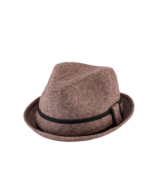 Hats - Tweed Fedora With Trim
