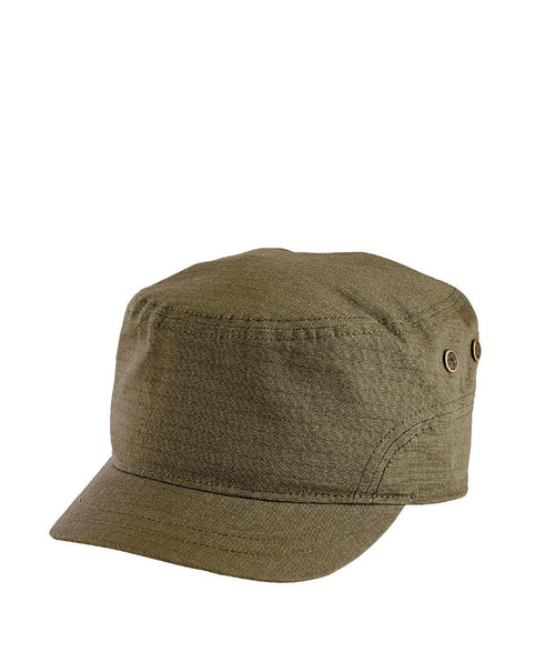 Hats - Unisex Textured Cotton Military Cap