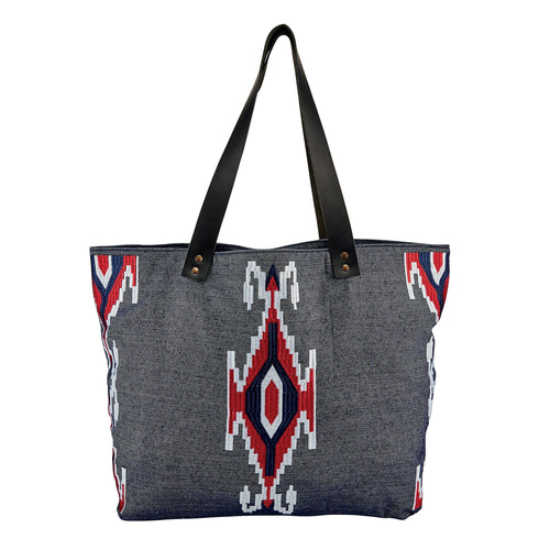 Women's Chambray Embroidered Tote (BSB1691)