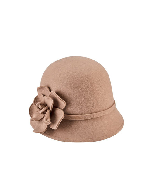 Hats - Women's Cloche With Flower