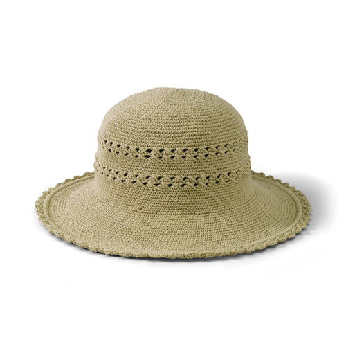 Hats - Women's Cotton Crochet Hat Medium Brim