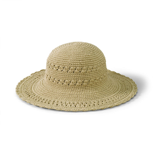 Women's Cotton Crochet Hat With A Large Brim (CHL1)