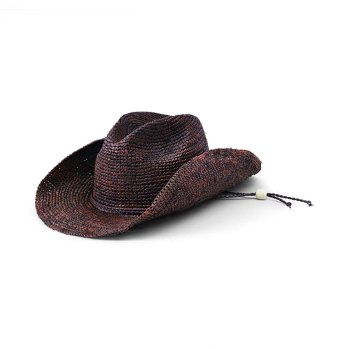 Women's Crocheted Raffia Cowboy Hat (RHC1052)