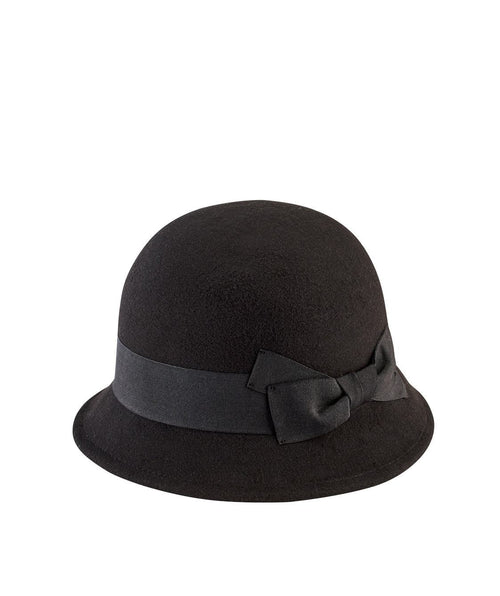 Hats - Women's Faux Wool Felt Cloche
