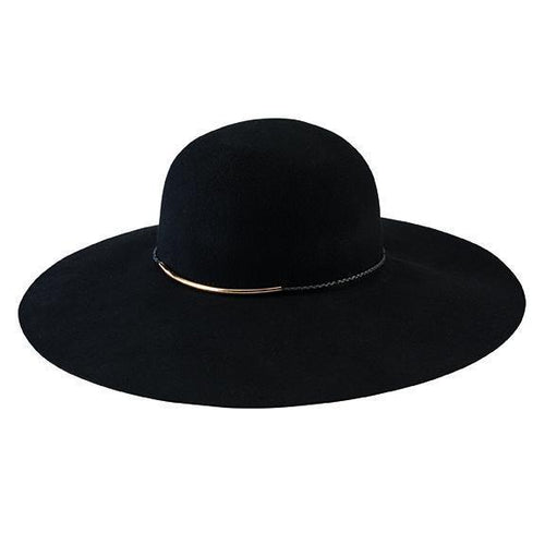 Hats - Women's Floppy Hat With Gold Bar