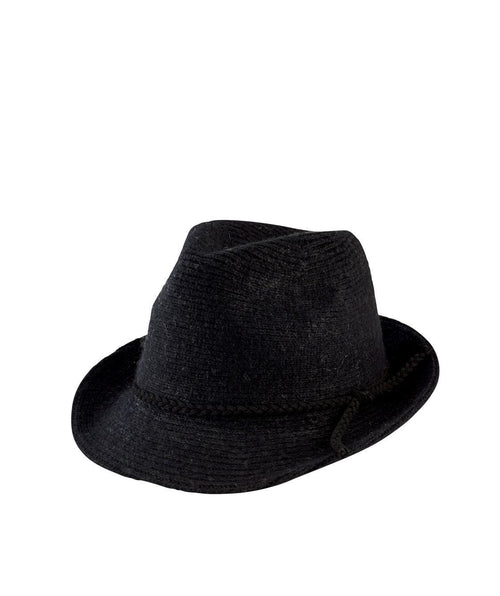 Hats - Women's Knit Fedora With Faux Suede Band