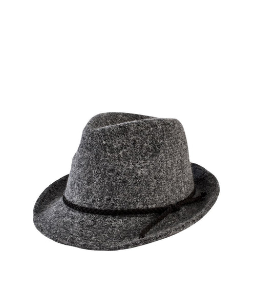 Women's Knit Fedora With Faux Suede Band (CTH8071)