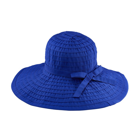 Women's Ribbon Braided Large Brim Hat with a Bow (RBL207)