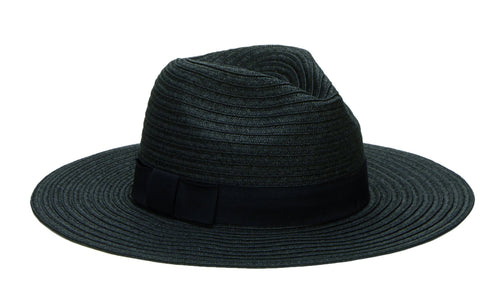 Women's Paper Braided Fedora With A Bow Band (PBF7300)