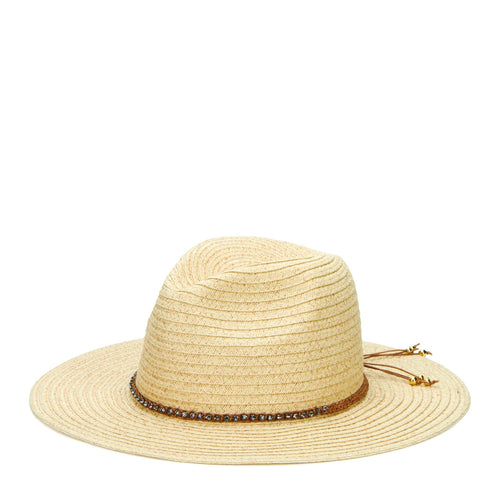 Women's Paperbraid Panama Fedora With Braided Diamond Band (PBF6174)