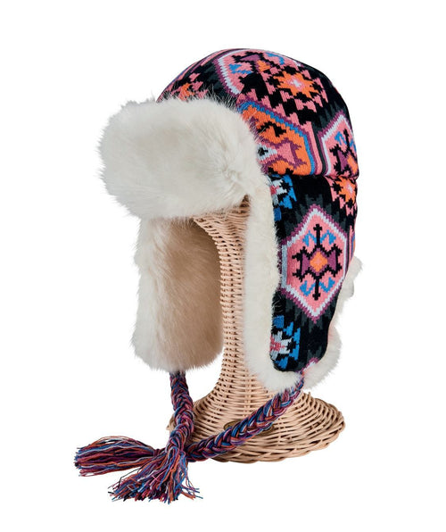 Hats - Women's Printed Trapper