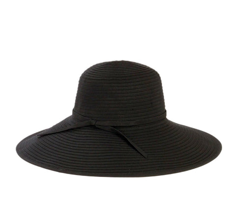 Women's Striped Sun Brim w/ Ribbon (RBM207)