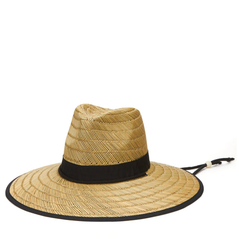 Women's Raffia Panama Fedora With Natural Beads (RHF6116)