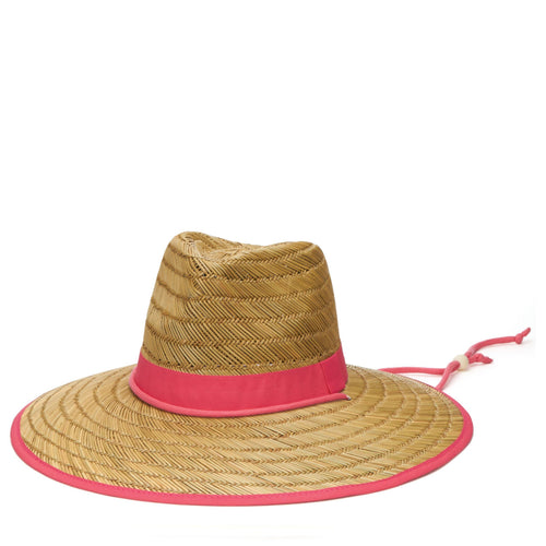 Women's Rush Straw Lifeguard With Fabric Band And Chin Cord