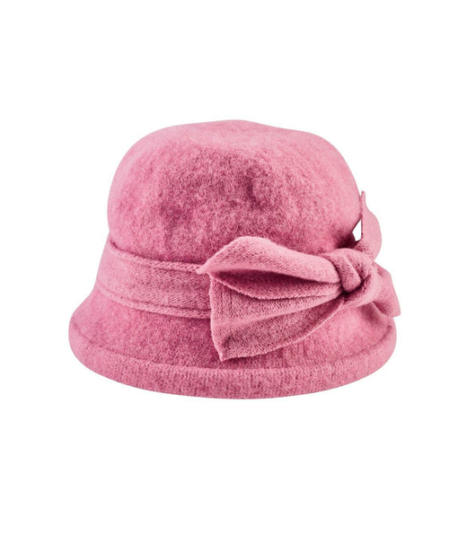 Hats - Women's Soft Knit Cloche With Bow